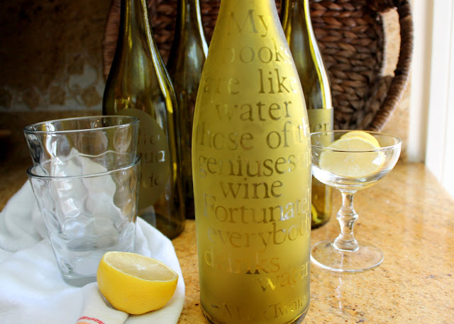 Etched Glass Water Carafes