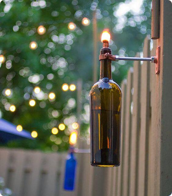 Outdoor Wine Bottle Lights
