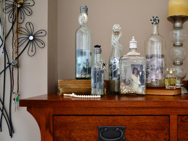 Recycled Wine Bottle Picture Frames