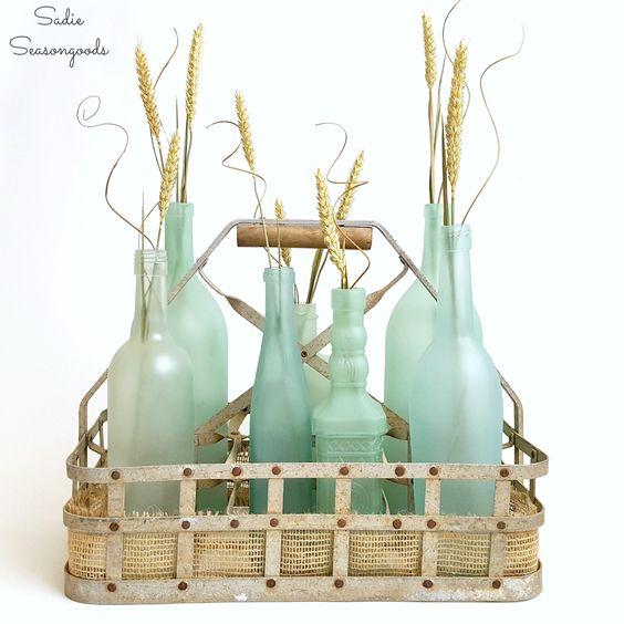 Wine Bottle Crafts: Beach Glass or Sea Glass Bottles for Coastal Decor
