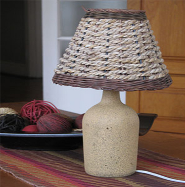 Table Lamp From a Wine Bottle