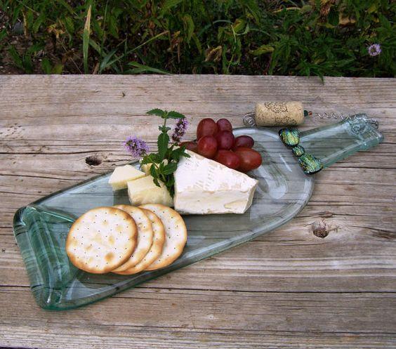 Upcycled Wine Bottle Platter