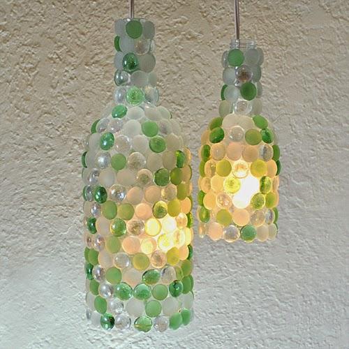 Wine Bottle Pendant Lamp