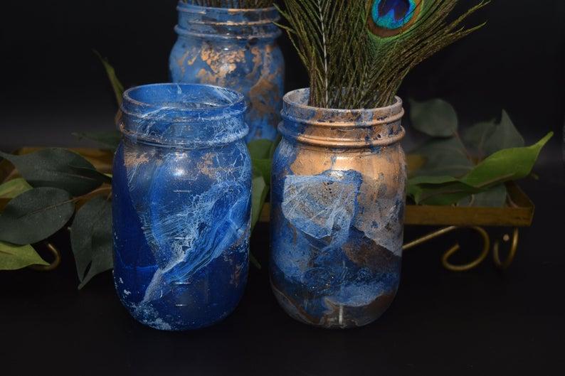 Marble Glass Jars