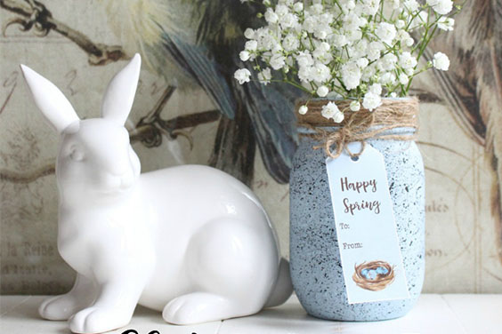 Robin's Egg Spring Mason Jar
