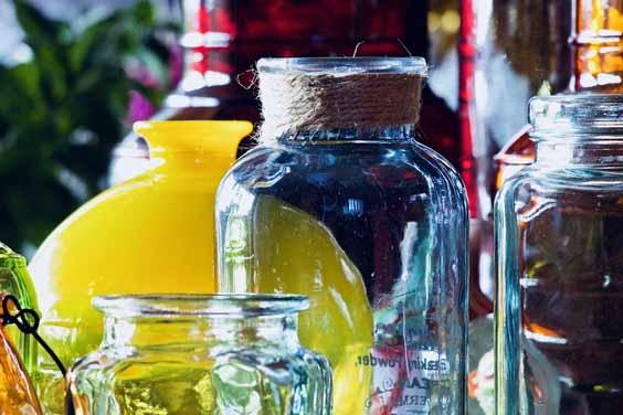 An Assortment of Glass Jars