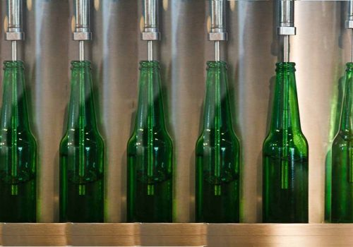 Glass Bottles in a Factory