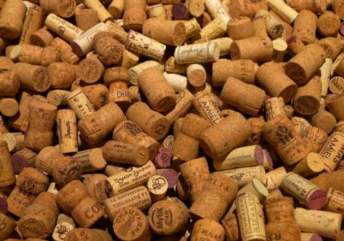 An collection of wine corks